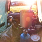 Coffee in the tent