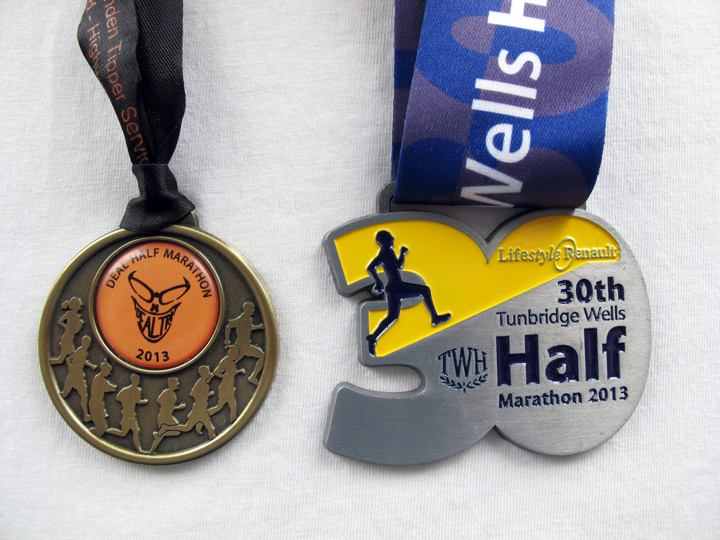 Half-marathon medals