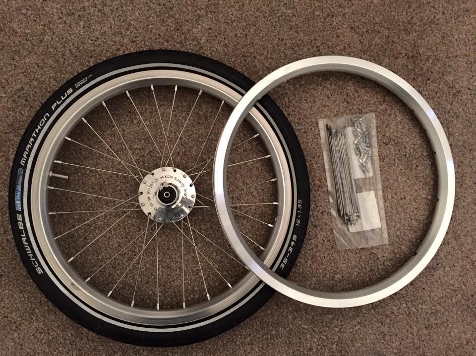 Brompton wheel rebuild