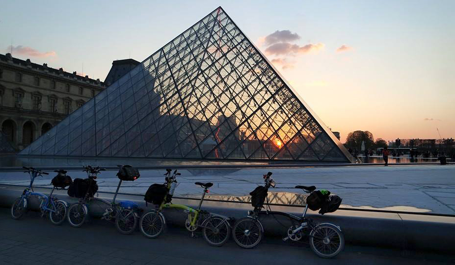Bromptons at the Musée du Louvre