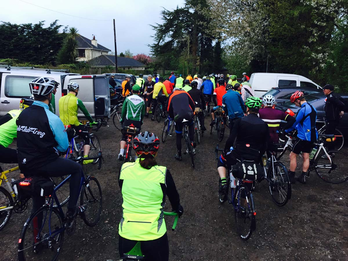 The start of the Oasts and Coasts 300 km audax