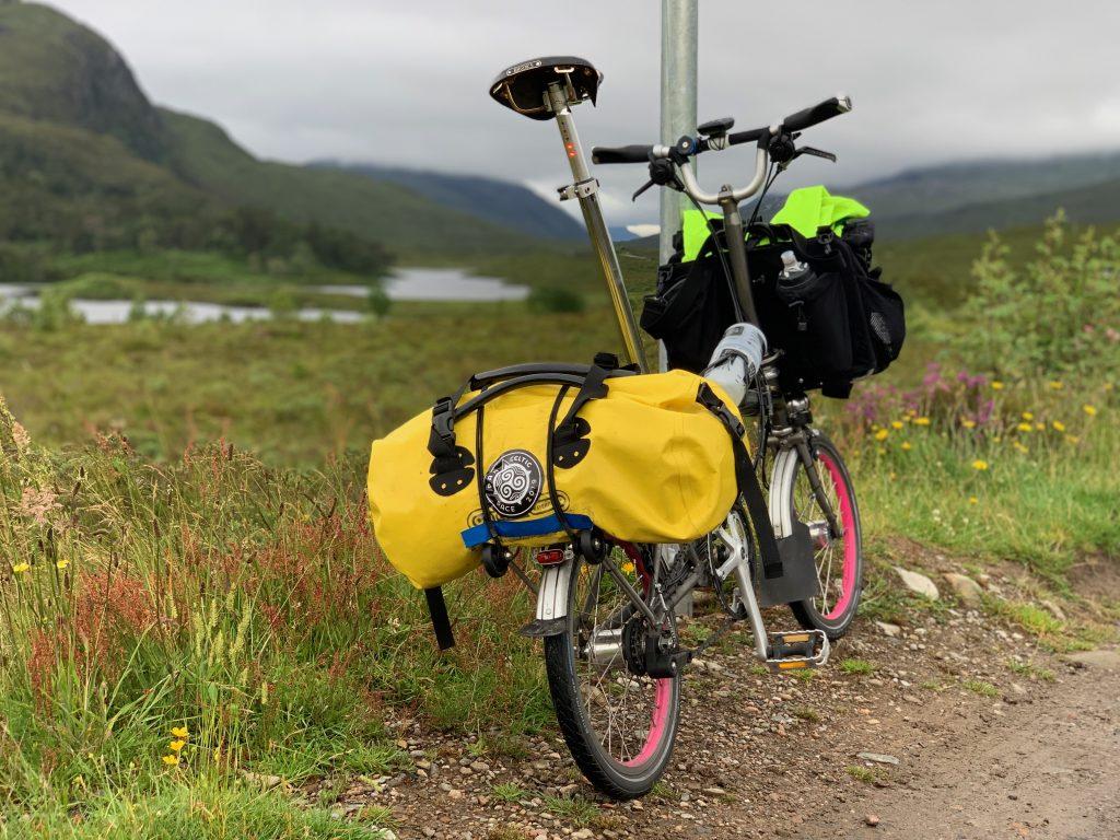 James Houston's Brompton bicycle on the 2019 Pan Celtic Race